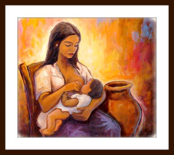 Hermosa y grande leche materna