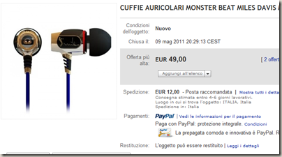 CUFFIE AURICOLARI MONSTER BEAT MILES DAVIS MP3 MP4 MP5   eBay