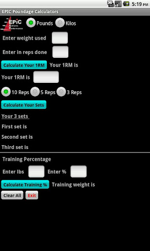 EPIC Poundage Calculator