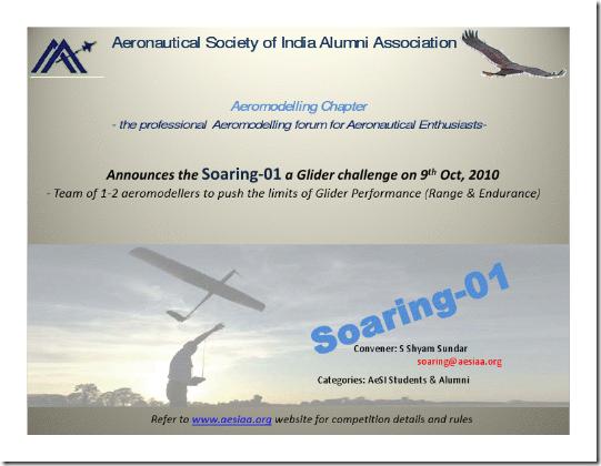 AeSIAA soaring..... Aero Modelling.....
