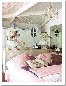 dormitorio de aire romántico