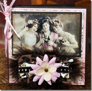 THANK YOU CARD VINTAGE THREE LADIES