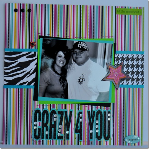 CRAZY FOR YOU 12X12 SCRAPBOOKING PAGE 2