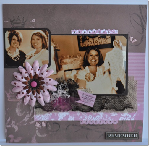 BABY SHOWER 12X12 SCRAPBOOKING PAGE 2