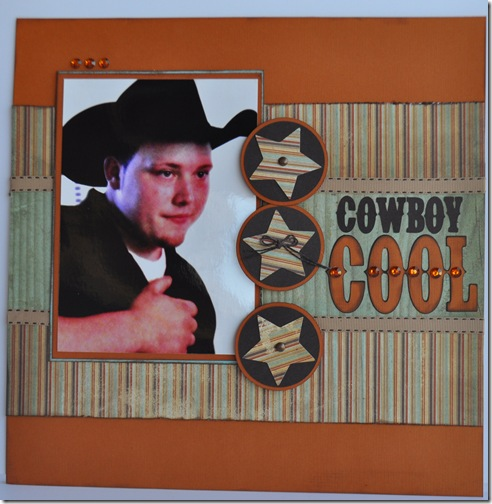 COWBOY COOL 12X12 SCRAPBOOKING PAGE 2