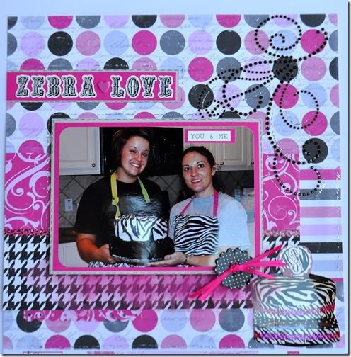 ZEBRA LOVE 12X12 SCRAPBOOKING PAGE 2