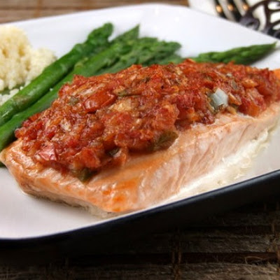 Salsa- Roasted Salmon