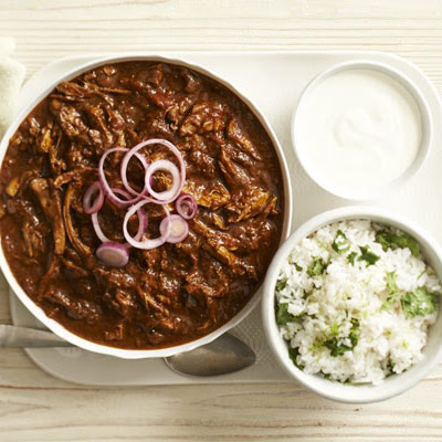 Chicken Mole With Coriander Rice