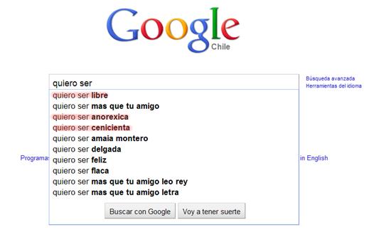 Búsquedas raras en Google 2