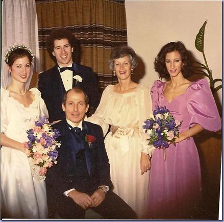 K Bride & family1982