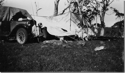Camping at Jock's Water Ebor December 1931