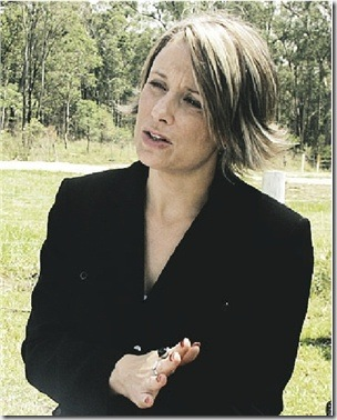 Kristina Keneally on site