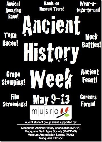 Ancient History Week