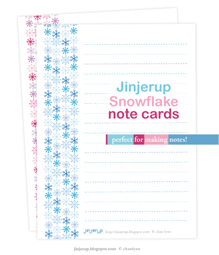 Snowflake Note cards: Note cards Template Download