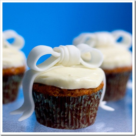 Gingered Bow Cupcakes