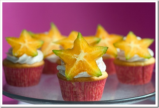 Star-Berry Cupcakes