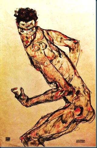 Schiele_-_Kämpfer_-_1913