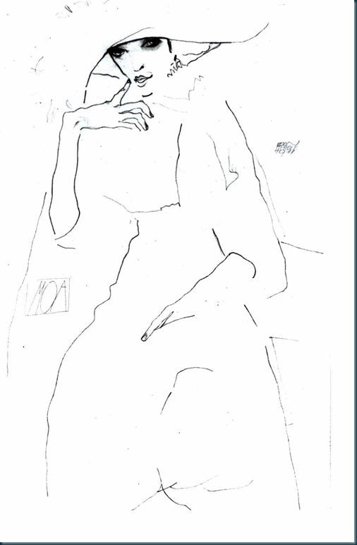 Schiele - Die Tänzerin Moa - 1911