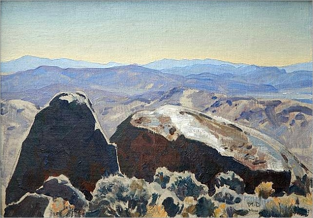 maynard dixon - South from Quartz Mountain