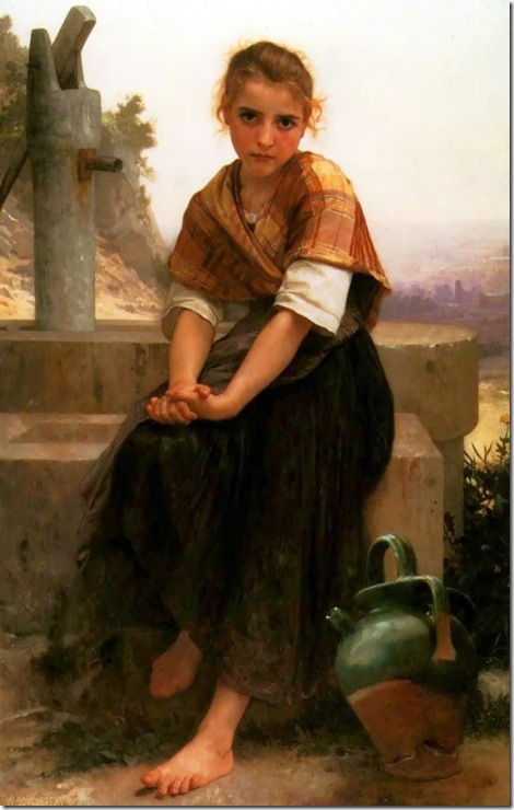 William Bouguereau - The Broken Pitcher _1891_