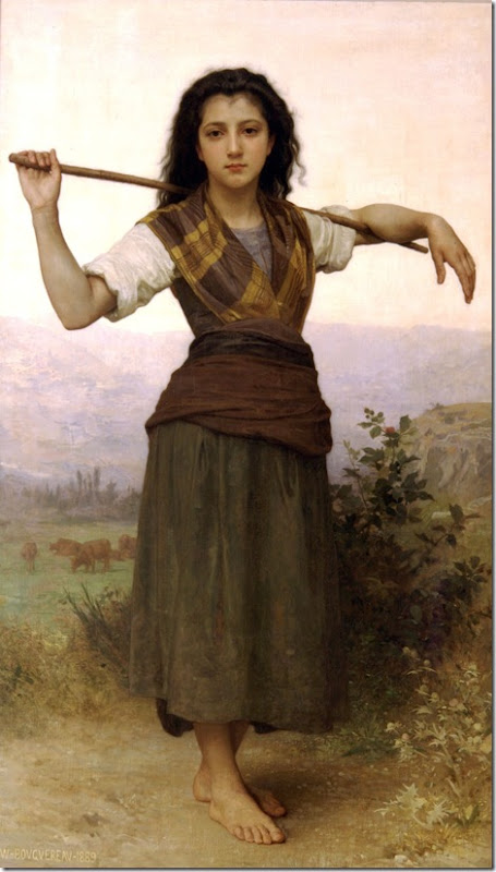 William Bouguereau - Shepherdess _1889_