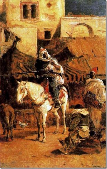 Fortuny - caballo árabe en tánger