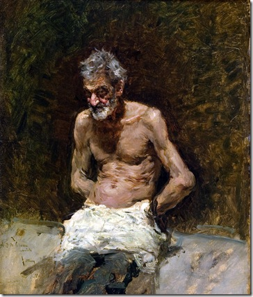 Mariano Fortuny - Viejo al sol (1871)