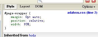 父元素 div#page-wrapper 使用相對定位