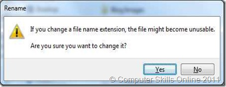 changing a file extension warning