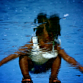 Innocent Reflection by Richard Brendel - Babies & Children Toddlers ( morris island, folly beach, small child, innocence, reflections,  )