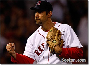 John Smoltz in his 1st Red Sox Win