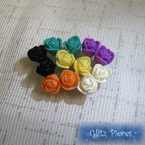 rose ear studs all
