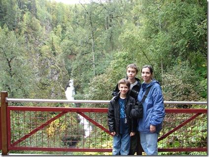 Platform near Thunderbird Falls Alaska