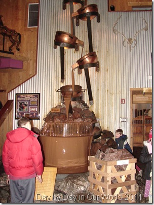 Tall chocolate fountain
