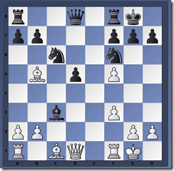Diagram 1. Black moved 12...Bxc3!