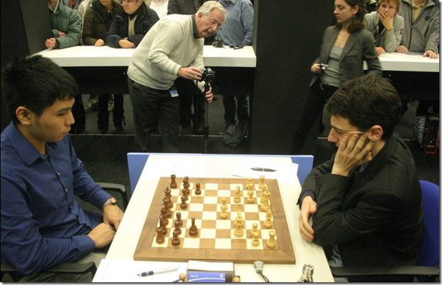 Wesley So (black) vs Laurent Fressinet, round 6