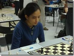 Olivia Madhavan, board 5, Round 2, Women.
