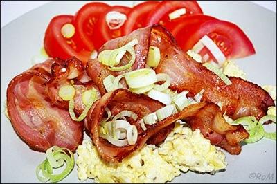 LCHF-Frukost Ägg och bacon
