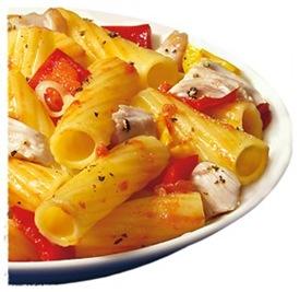 Tortiglioni med kyckling och paprika