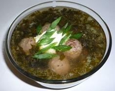 Крапивный суп с фрикадельками