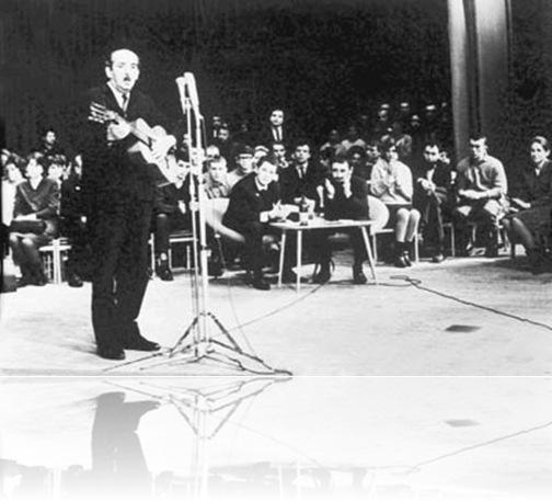А.Галич на Фестивале и семинаре песенной поэзии в Новосибирске. 1968 г.