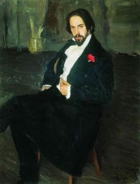 Борис Кустодиев - портрет Ивана Билибина, 1901