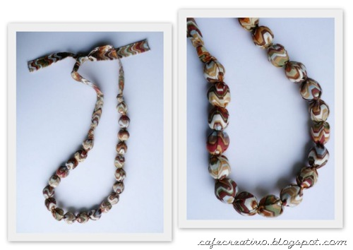 Fabric Necklace 3