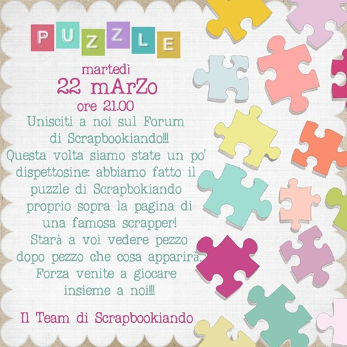 Scrapbookiando - Volantino Puzzle