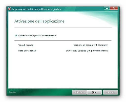 Kaspersky 2011 internet security e anti virus gratis per for La licenza di windows sta per scadere