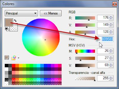 Seleccionar color primario