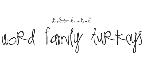 wordfamilyturkeys