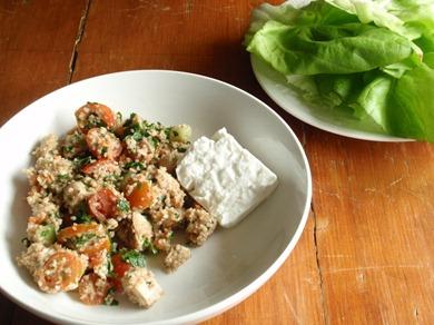 Tabbouleh lettuce wraps