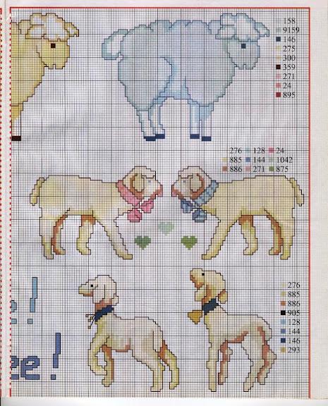 Схемы вышивки: разноцветные