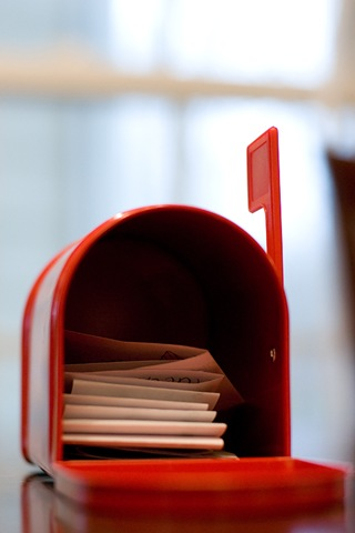 Inside mailbox blog